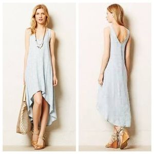 Anthro Cloth & Stone high Low Chambray Ikat Dress